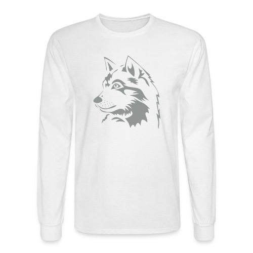 animal t-shirt wolf wolves pack hunter predator howling wild wilderness dog husky malamut - Men's Long Sleeve T-Shirt