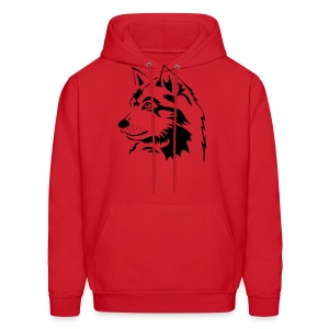 animal t-shirt wolf wolves pack hunter predator howling wild wilderness dog husky malamut - Men's Hoodie