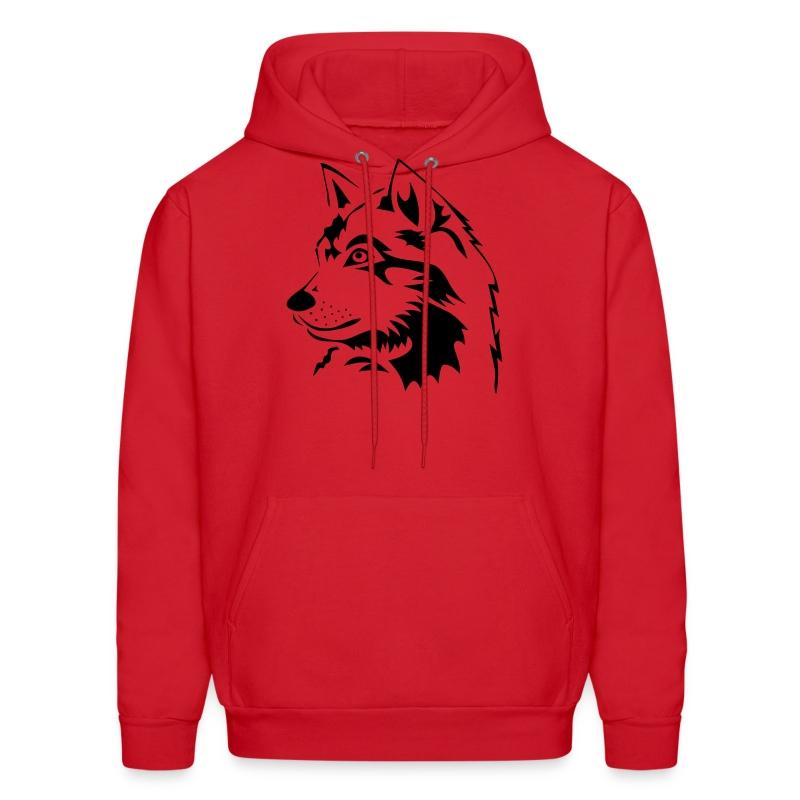animal t-shirt wolf wolves pack hunter predator howling wild wilderness dog husky malamut - Men's Hoodie