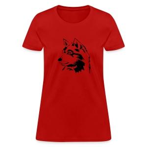 animal t-shirt wolf wolves pack hunter predator howling wild wilderness dog husky malamut - Women's T-Shirt