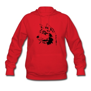 animal t-shirt wolf wolves pack hunter predator howling wild wilderness dog husky malamut - Women's Hoodie