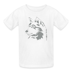 animal t-shirt wolf wolves pack hunter predator howling wild wilderness dog husky malamut - Kids' T-Shirt
