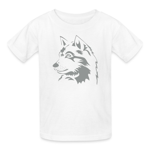 animal t-shirt wolf wolves pack hunter predator howling wild wilderness dog husky malamut - Kids' T-Shirt