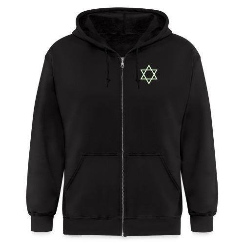 Spliff Men's zipper hoodie2 - Men's Zip Hoodie