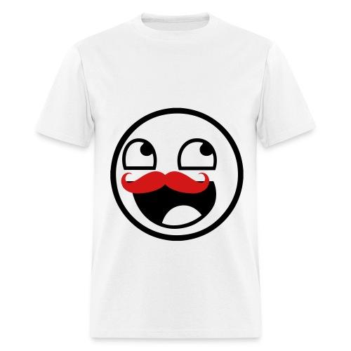 Awesome Face Moustache - Men's T-Shirt