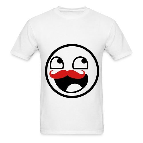 Awesome Face Moustache - Men's T-Shirt