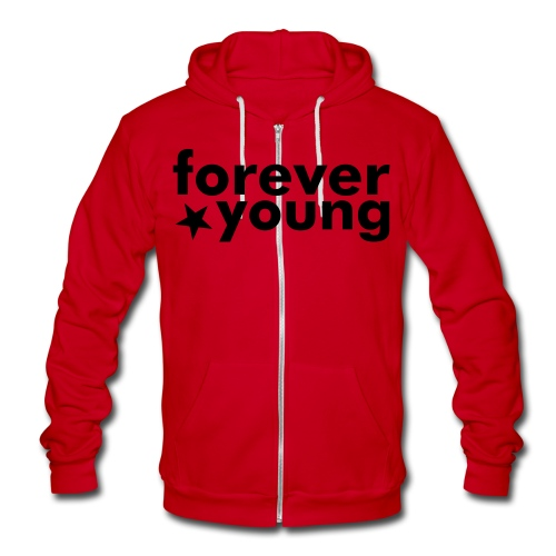 forever young sweater - Unisex Fleece Zip Hoodie