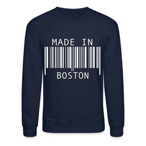 MADE IN BOSTON TMGbrand Crew Sweatshirt - Crewneck Sweatshirt