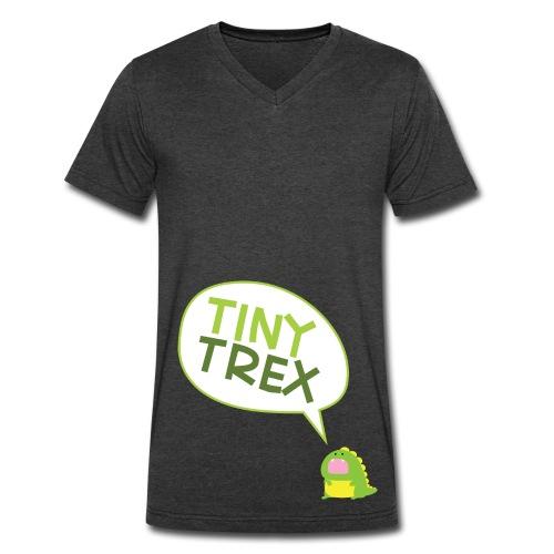 Tiny T-Rex T-Shirt - Men's V-Neck T-Shirt by Canvas