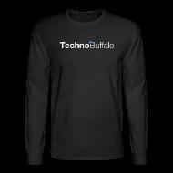 Long Sleeve Shirts ~ Men's Long Sleeve T-Shirt ~ TechnoBuffalo Long Sleeve Guys (Black)