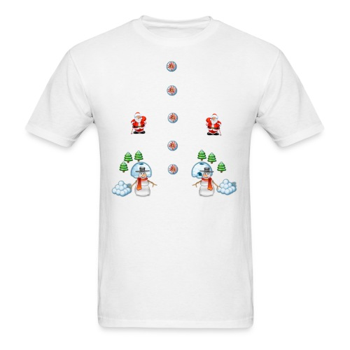 christmas snowmans Scene Father Christmas - Men's T-Shirt