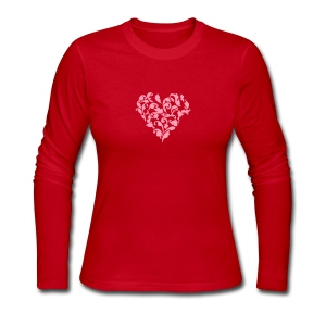 floral heart 1c Long Sleeve Shirts - Women's Long Sleeve Jersey T-Shirt