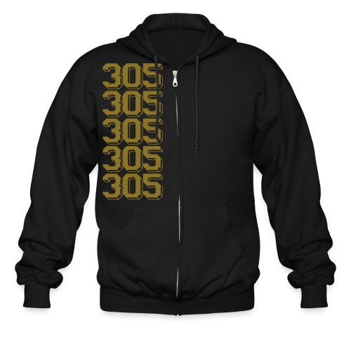 Gold 305 zip up *NEW NEW NEW!!! - Men's Zip Hoodie