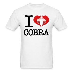 I Heart Cobra - Men's T-Shirt