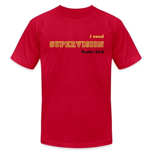 Supervision - Men's Red - Men's Fine Jersey T-Shirt