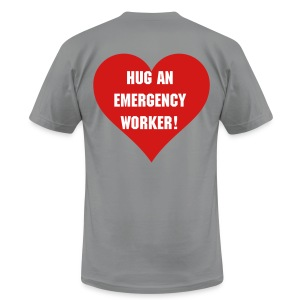 Hug an emergency worker - Men's T-Shirt by American Apparel