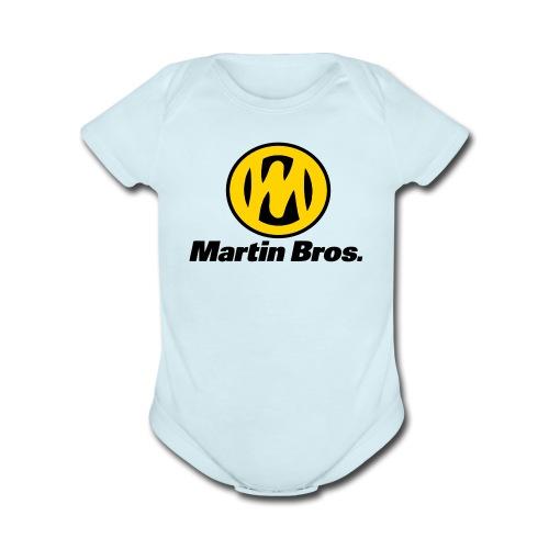 Martin One Pie Baby Boy - Organic Short Sleeve Baby Bodysuit