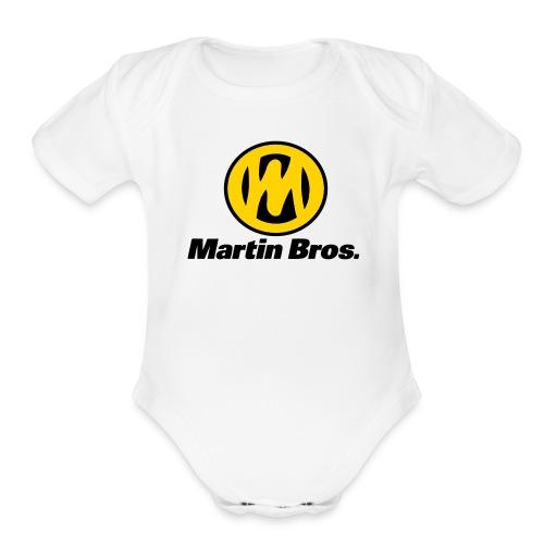 Martin One Piece - Organic Short Sleeve Baby Bodysuit