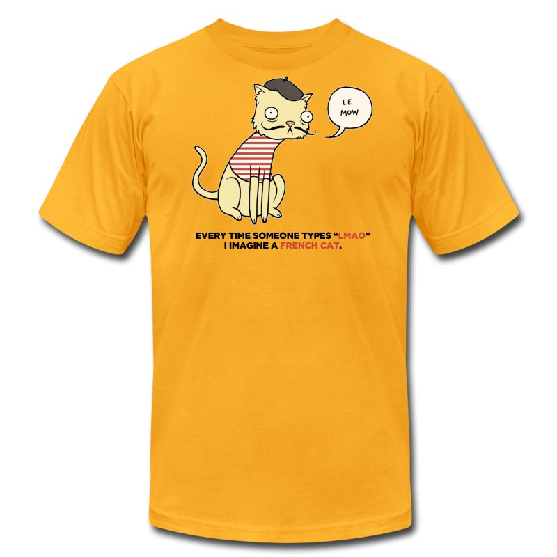 French Cat - Men's T-Shirt by American Apparel