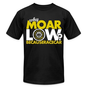 MOAR Low Yellow - Men's T-Shirt by American Apparel