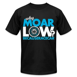 MOAR Low Blue - Men's T-Shirt by American Apparel