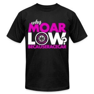 MOAR Low Hot Pink - Men's T-Shirt by American Apparel