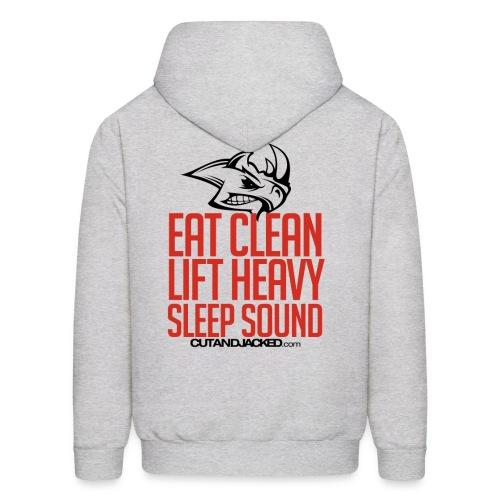 Sleep sound   Mens Hoodie (Back Print) - Men's Hoodie