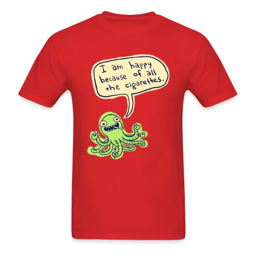 Ozzie the Chain-smoking Octopus - Men's T-Shirt