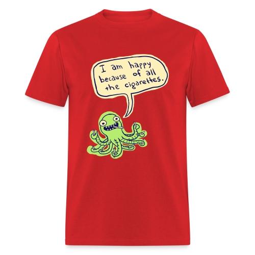 Ozzie the Chain-smoking Octopus - Men's T-Shirt