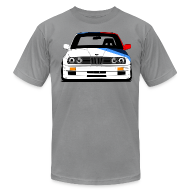 T-Shirts ~ Men's T-Shirt by American Apparel ~ Classic Racer: DTM E30 M3 Short Sleeve