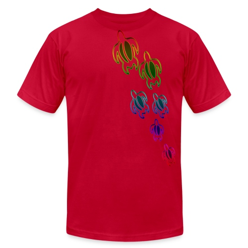 Rainbow Turtles fitted - Men's  Jersey T-Shirt