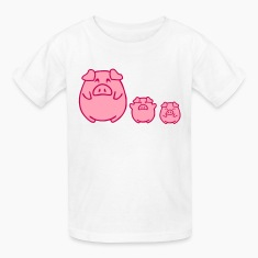 three cute pigs Kids' Shirts