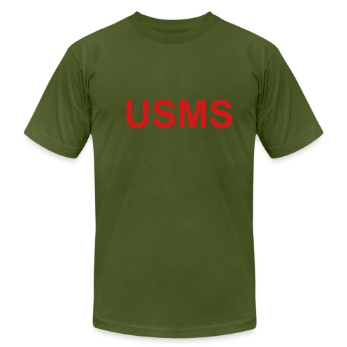 USMS Silent (two sided) - Men's Fine Jersey T-Shirt