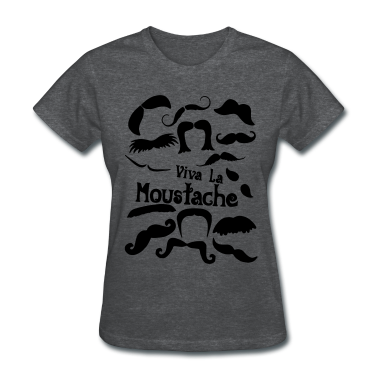 viva la moustache Women's T-Shirts