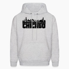 Chicago Skyline Hooded Sweatshirt