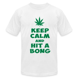 Hit A Bong Tee - Men's T-Shirt by American Apparel