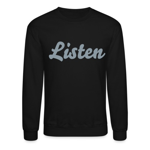 Men's - Listen Brand Curved Crew neck Sweatshirt - Crewneck Sweatshirt