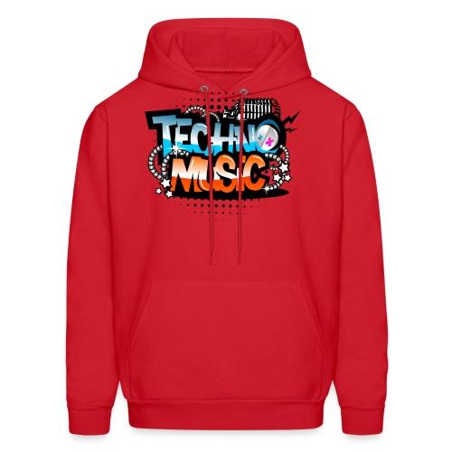 Techno music - Men's Hoodie