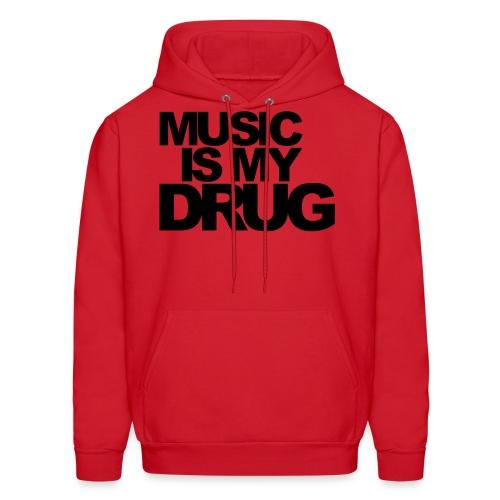 music is my drug - Men's Hoodie