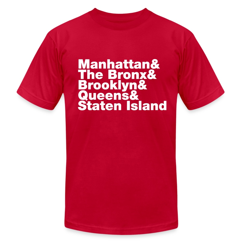 Five boroughs new york city t shirt spreadshirt for New york city tee shirts