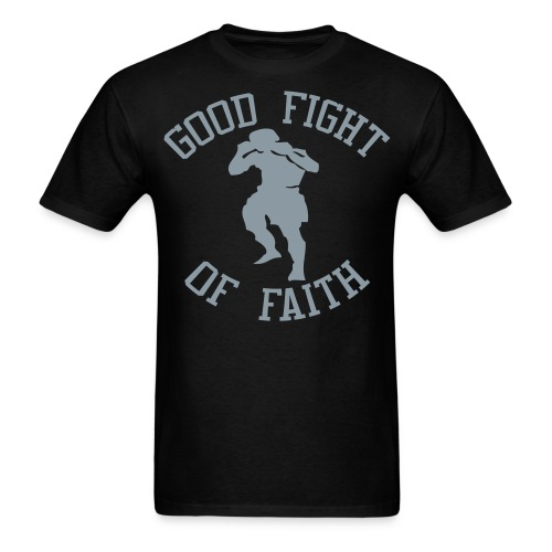 Good Fight T-Shirt w/ Metallic Silver - Men's - Men's T-Shirt