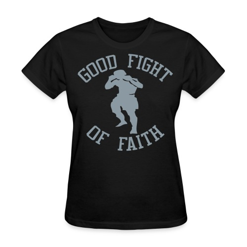 Good Fight T-Shirt w/ Metallic Silver - Women's - Women's T-Shirt