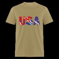 T-Shirts ~ Men's T-Shirt ~ USA flag tee