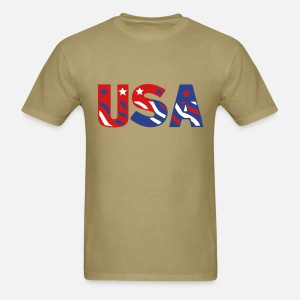 USA flag tee - Men's T-Shirt