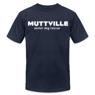 T-Shirts ~ Men's T-Shirt by American Apparel ~ Men's Muttville Any Color tee - white logo