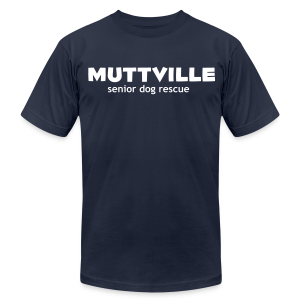 Men's Muttville Any Color tee - white logo - Men's Fine Jersey T-Shirt