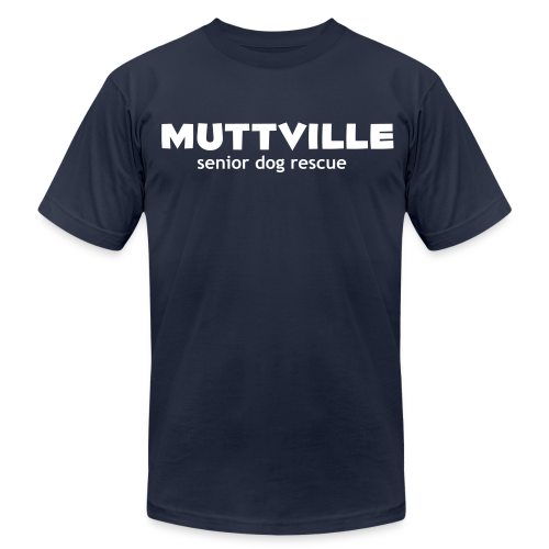 Men's Muttville Any Color tee - white logo - Men's T-Shirt by American Apparel