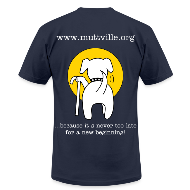 Men's Muttville Any Color tee - white logo