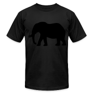 T-Shirts ~ Men's T-Shirt by American Apparel ~ Camouflage Elephant Flex Print Graphic Tee