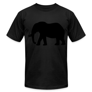 Camouflage Elephant Flex Print Graphic Tee - Men's T-Shirt by American Apparel